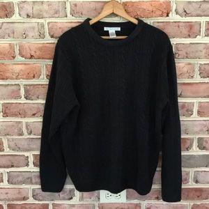 Geoffrey Beene Mens Classic Black Sweater